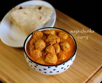 soya chunks curry recipe | soya bean curry recipe | soya bean recipe