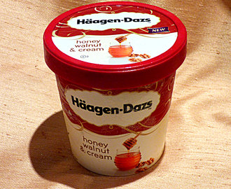 New Haagen Dazs flavour and baked apples with mincemeat