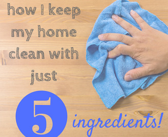 how I keep my home clean with just 5 items (30+ recipes for homemade cleaners)