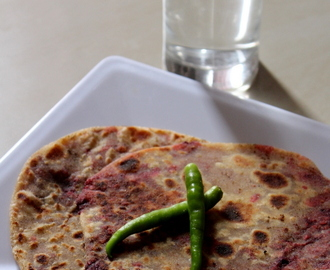 Beetroot Paratha Recipe, How To Make Beetroot Paratha | Beetroot Roti