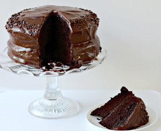 Deepest Darkest Chocolate Cake