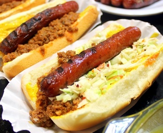 Chili Buns and Slaw Dogs - Appalachian Style