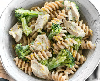 Chicken and Broccoli Pasta with Lemon Cream Sauce