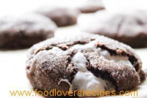 CHEWY CHOCOLATE MARSHMALLOW COOKIES