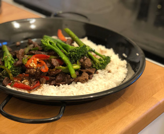 Nate's Beef Stir Fry on a Bed of Rice Recipe