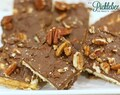 Cracker Toffee with Dark Chocolate & Pecans
