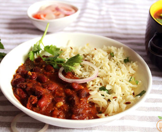 Rajma Curry With Jeera Rice | Rajma Chawal Recipe