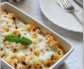 Baked Pasta With Herbs And Cheese.