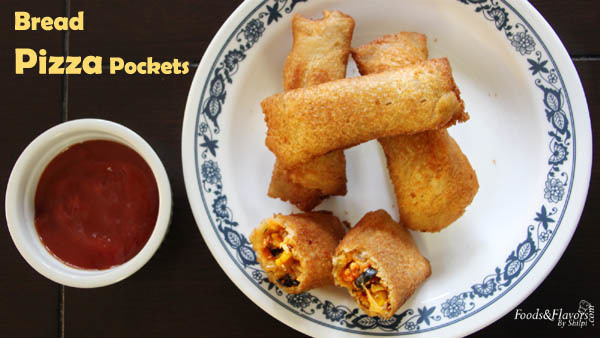 Bread Pizza Pockets | Bread Pizza Rolls | Quick Bread Pizza Recipe