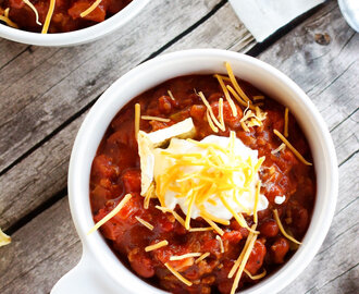 Easy Homemade Beef Chili