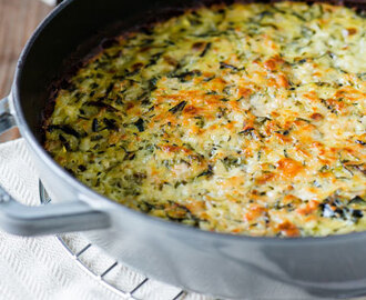Gratin de riz et courgettes Weight watchers