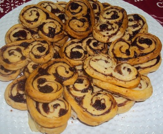 Palmiers com chocolate