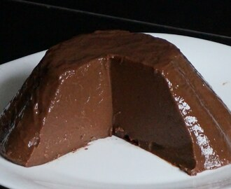 Flan fácil de chocolate de 2 ingredientes
