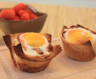 I cooked: Bacon, egg and toast cups