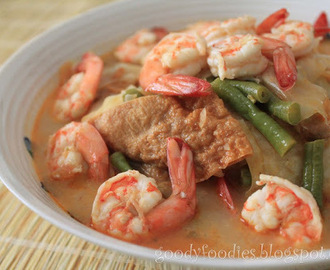 I cooked: Lodeh Siam with Prawns