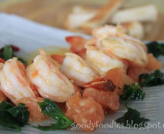 I cooked: Garlic Buttered Prawns with Tomato and Coriander (MasterChef)