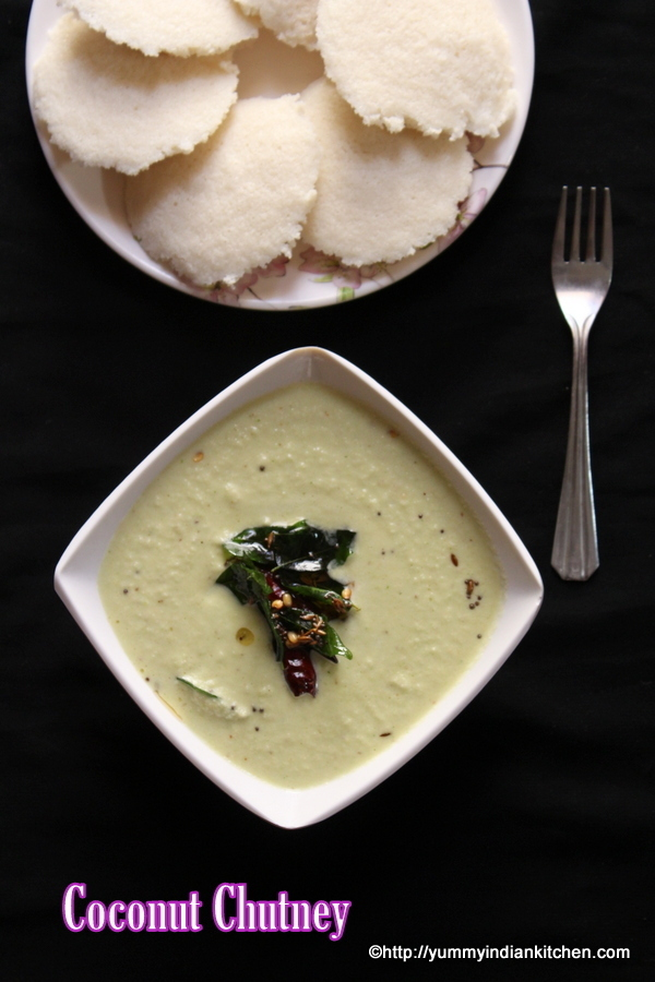 Coconut Chutney Recipe For Idli Dosa, Thengai Chutney