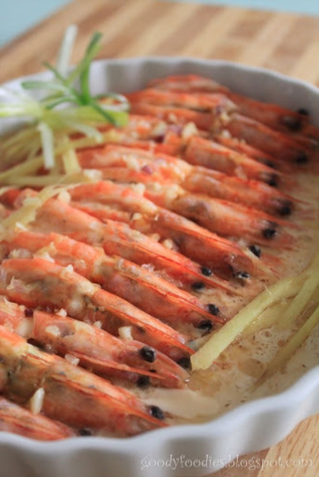 I cooked: Steamed Prawns with Shaoxing wine and Egg White