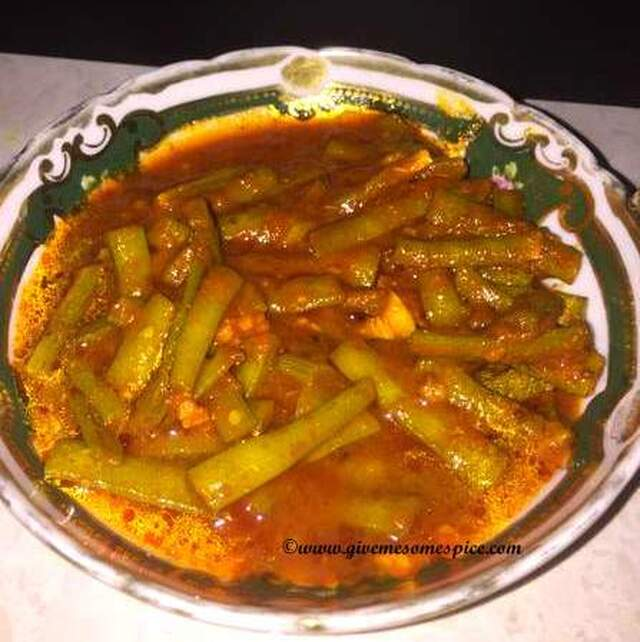 Cluster Bean curry (guvar nu shak)