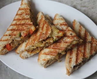 Chana Masala Cheese Sandwich Recipe