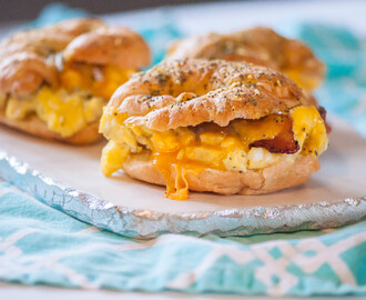 Baked Breakfast Croissant Sandwiches