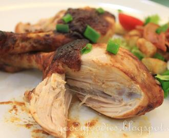 Recipe: Oven-roasted Devilled Chicken Drumsticks (Delia Smith)