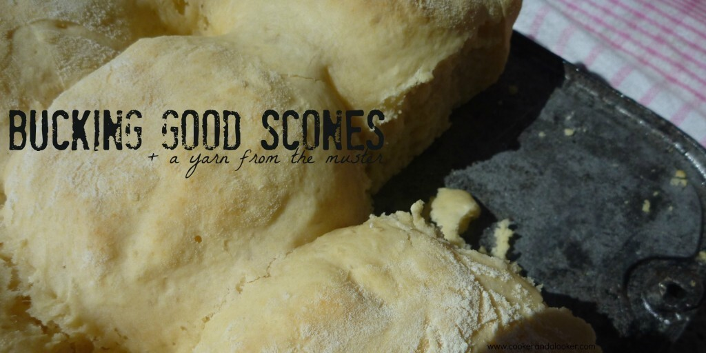 bucking good lemonade scones + a yarn from the Muster