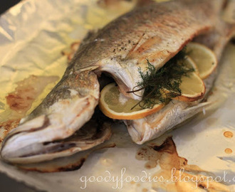 Recipe: Oven-baked fish (barramundi) with lemon and dill