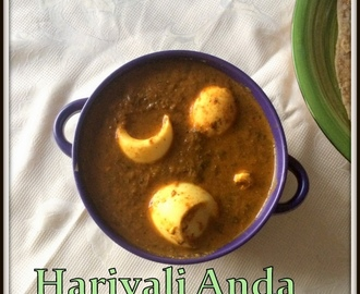 Hariyali Egg Masala Gravy | Hara Masala Anda Gravy | Boiled Egg Gravy Recipes For Roti | Side Dishes For Roti