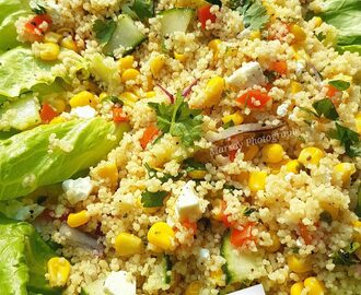 Couscous, Sweetcorn and Peppers Salad