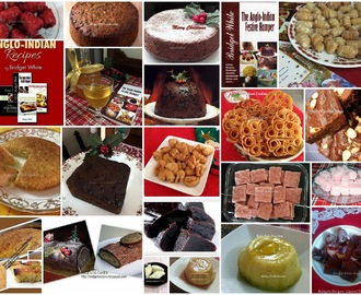 ANGLO-INDIAN CHRISTMAS DELICACIES - CHRISTMAS CAKE, CHRISTMAS PUDDING, MARZIPAN SWEETS, KALKALS, ETC