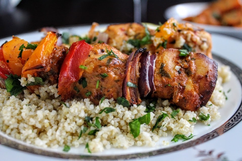 Spicy Moroccan chicken kebab