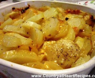 Microwaved Scalloped Potatoes