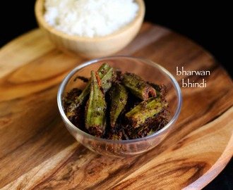 bharwa bhindi recipe | stuffed bhindi recipe | stuffed okra fry recipe