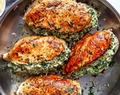 Spinach Artichoke Stuffed Chicken Breast