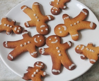 Eggless Gingerbread Cookies Recipe - Gingerbread Man Cookies Recipe