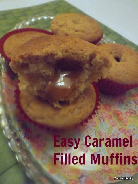 Easy Caramel Filled Muffins