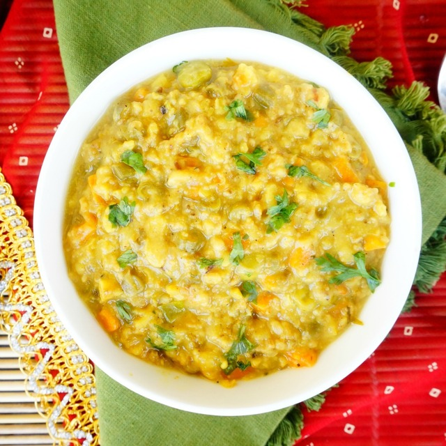 How to make Masala Oats with moong dal