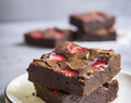 Fudgy Strawberry Brownies