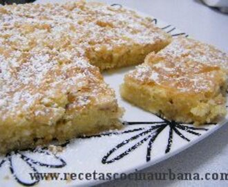 RECETA DE BLONDIES DE CHOCOLATE BLANCO