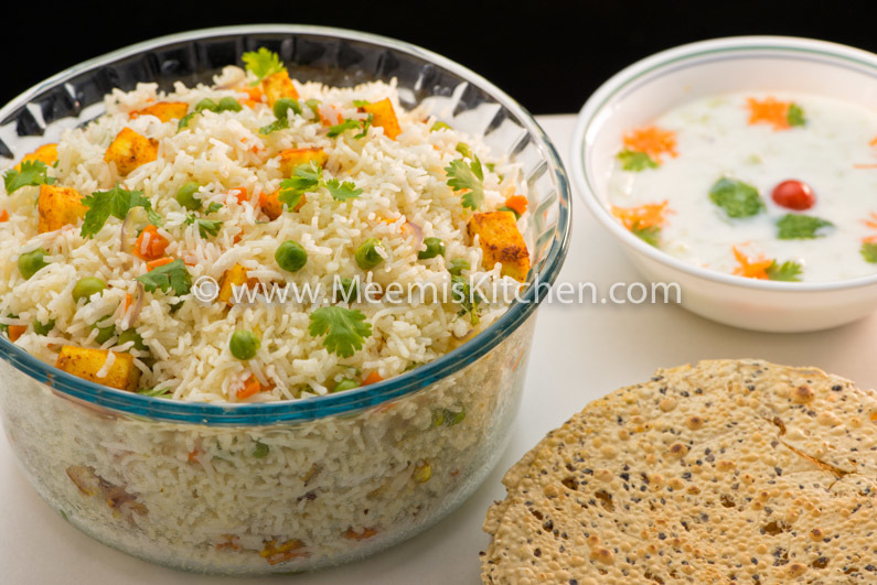 Paneer Pulao, Simple Paneer Pulav