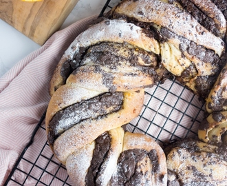 Chocolate Orange Bread Wreath