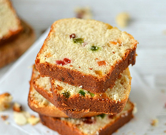 Eggless Fruit and Nuts Cake/Fruit and Nuts Snack Cake