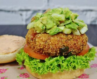 Fish & Shrimp Burger Recipe (with guacamole)