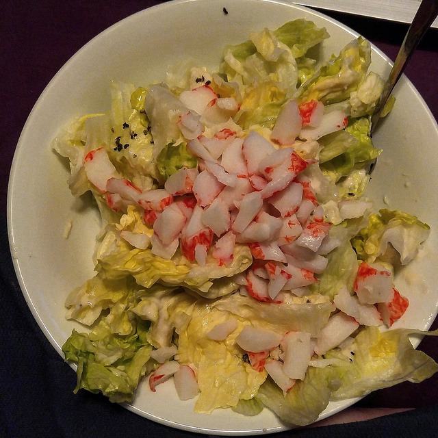 Crab Caesar Salad #SundaySupper for Two