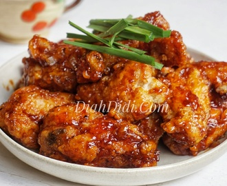 Spicy Korean Chicken Wings ala Yodha