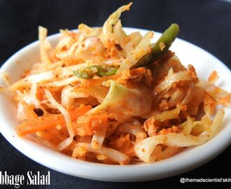 Cabbage Salad Indian Style