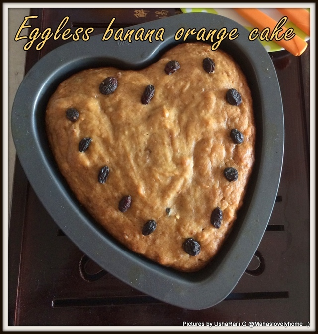 Eggless Banana Orange Cake | Banana Orange Juice Cake Without Egg and Butter | Eggless cakes | Orange Banana Cake no Eggs | Eggfree Cakes