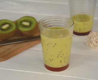 Smoothie mangue kiwi vitaminé