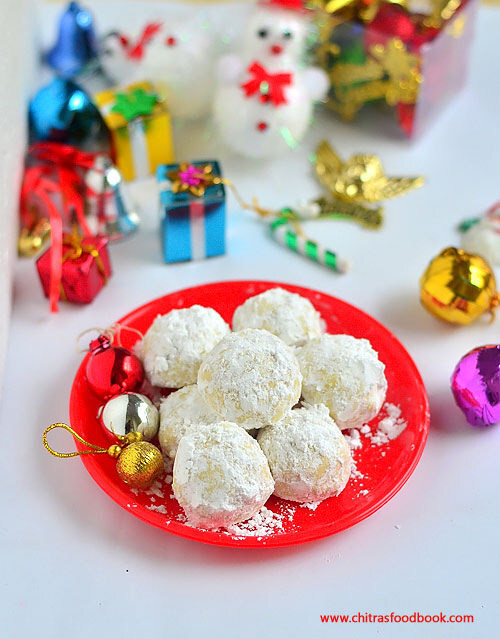 Eggless Snowball Cookies Recipe – Easy Christmas Recipes